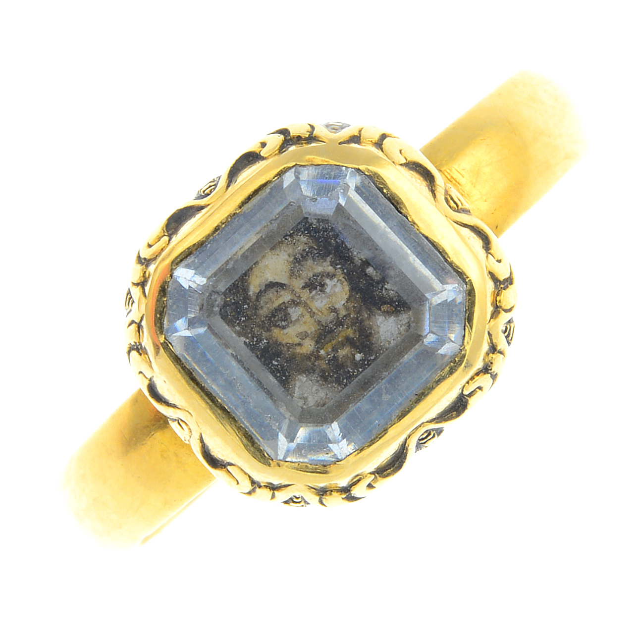 17th century Charles I Stuart crystal ring