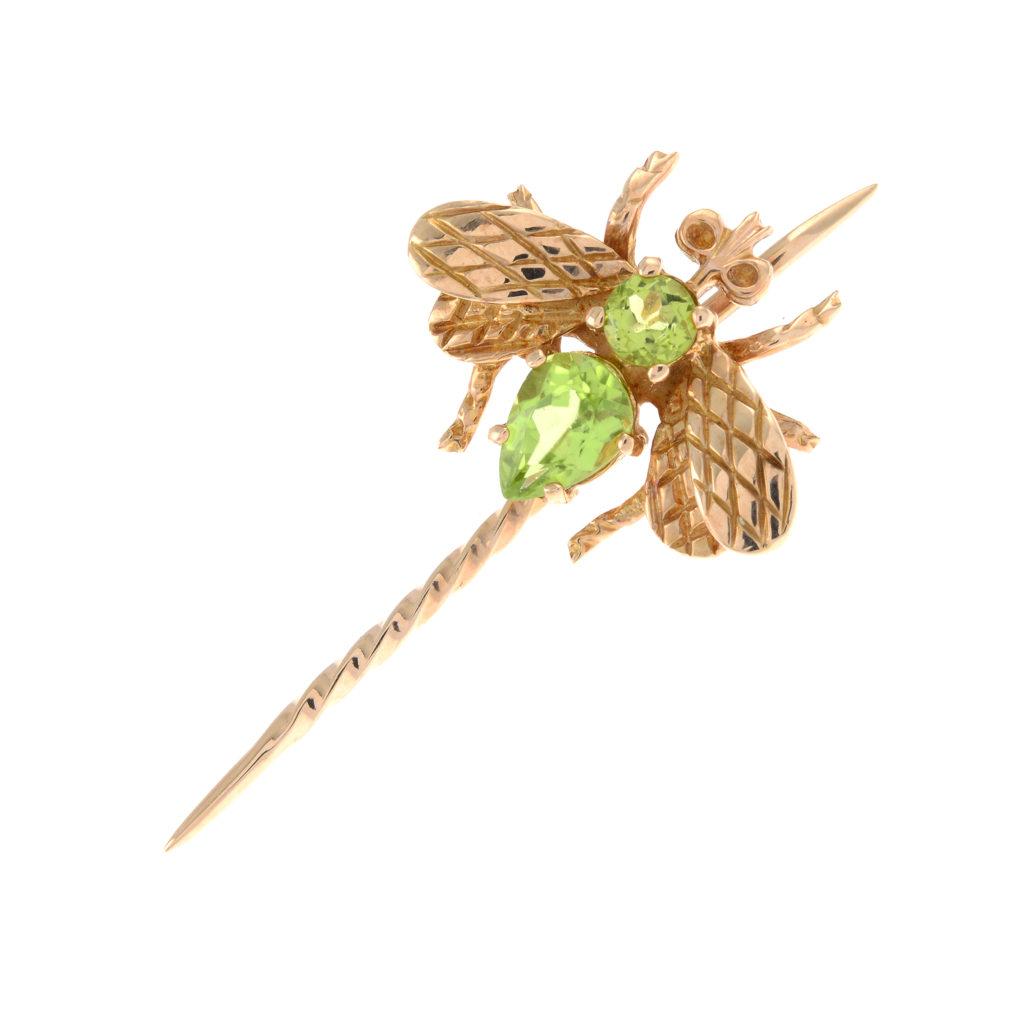 peridot fly pin