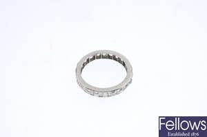 A diamond full eternity ring.